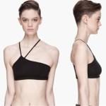 Chic Asymmetric Bandeau Bra Tops By Helmut Lang $90