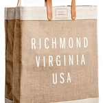 "Chic ""Richmond, Virginia"" Woven Market Bag  FREE US SHIPPING / $15 INTERNATIONAL"