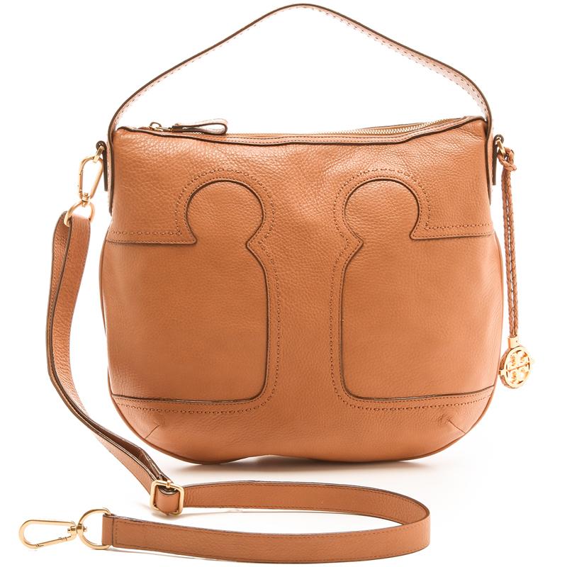 Brown Leather Hobo Tote Bag