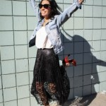 Black Lace Skirt Outfit Ideas Part 1: Dance Baby Dance
