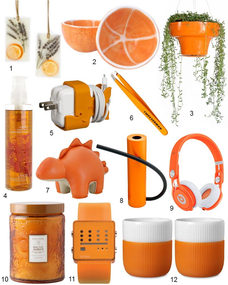 The Hit List - 12 Mood Brightening Accessories In Citrus Orange