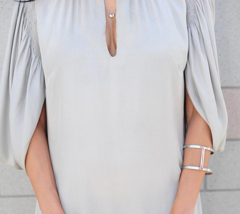 Pink Soda Dress -  Silver Keyhole Dress
