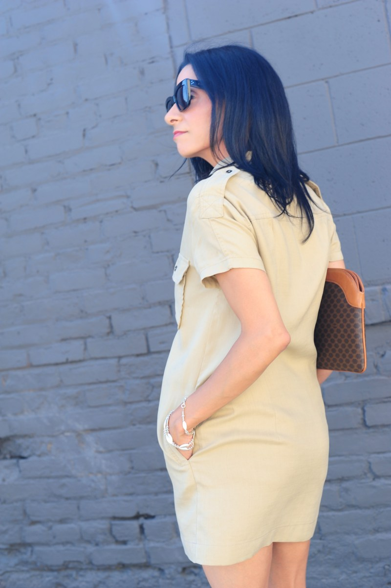 shirt dress with pockets - Khaki Dress