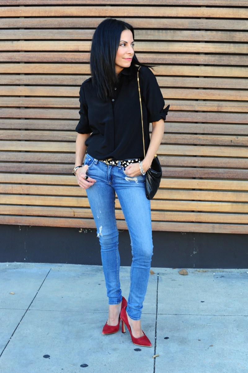 California Christmas - Outfit Ideas - Banana Republic Blouse