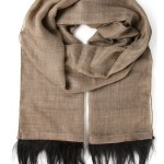 A Cashmere Fur Trim Scarf That's Utterly Chic