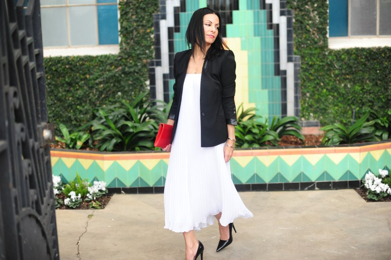 Long Pleated Skirts - Theory White Skirt