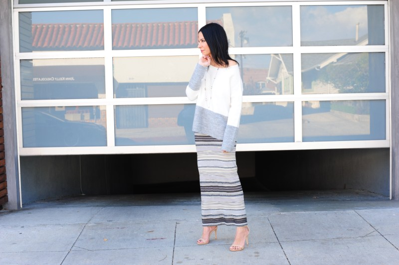 Off The Shoulder Sweater Dakota Collective Sweater - Missoni Skirt