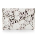 Oh Marble White Leather Clutch – You Had Me At Hello…
