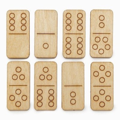 Monocle Wooden Travel Dominos