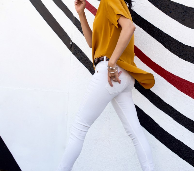 Mustard Yellow Color Top By H&M