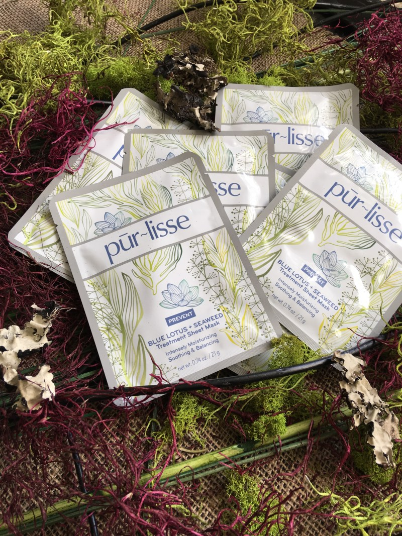 Purlisse Blue Lotus and White Tea Sheet Masks