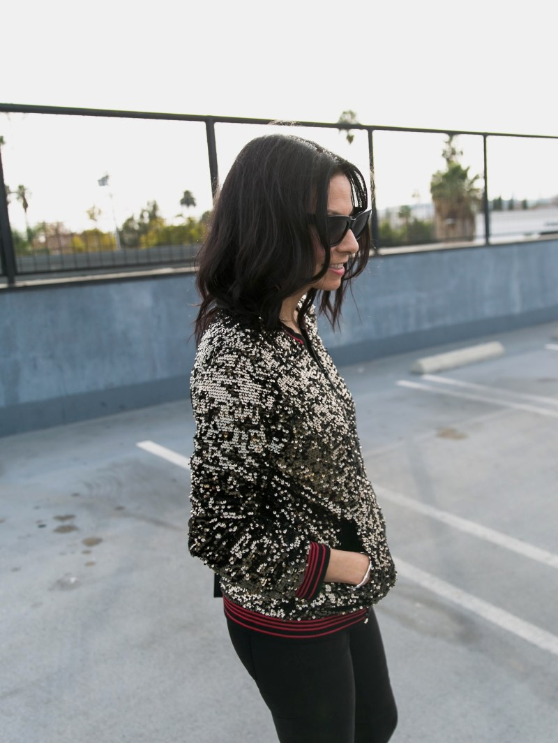 Sanctuary Clothing Sequined Bomber