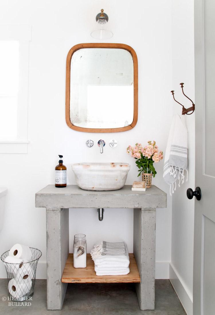marbled vessel sink