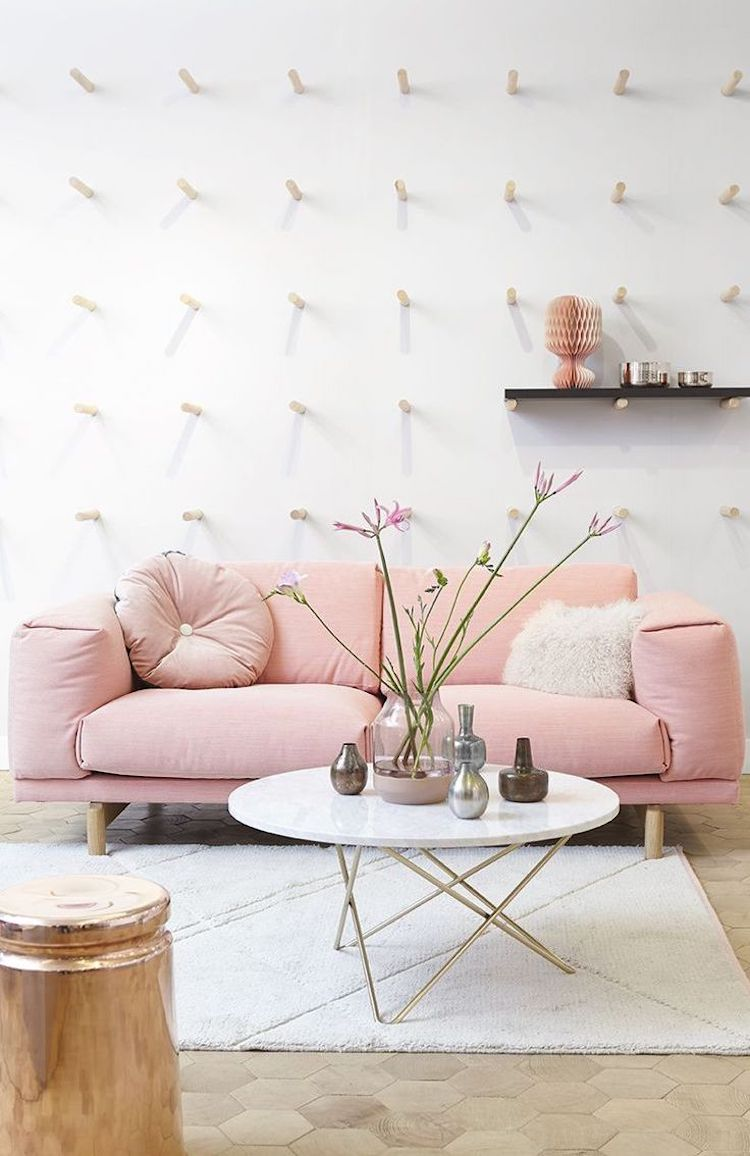 18 Chic Blush Pink Sofas Amp How To Style Them