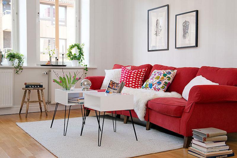12 Fabulous Red Sofas For Your Living Room Centrepiece Furnishing Custom Made Sofa