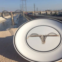 L.A. River Bridges Plates – A Unique Holiday Gift