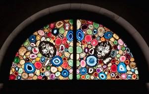 Sigmar Polke, Agate Window (detail), sliced agate and lead, Grössmunster, Zurich, 2006-09.