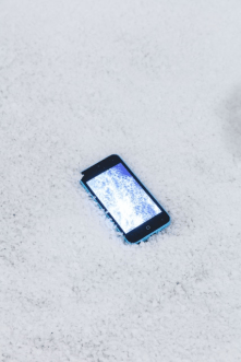 5. Life is full of transitions 2014, blue iPhone 5c, video, 12 x 5.5 x 1 cm, 4 3/4 x 2 1/8 x 3/8 ins