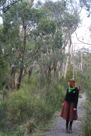 Amy Dale walking in Cleland Conservation Park