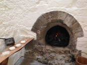 Oven for pies and bread in the Abbot's Kitchen at Glastonbury Abbey.