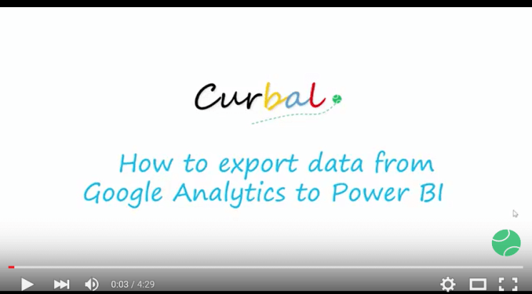 How to export data to google analytics Youtube