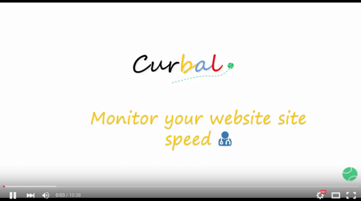 Monitor your site speed youtube