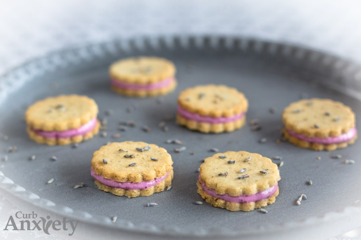 Good-for-You Lemon Cheesecake Filled Lavender Cookies