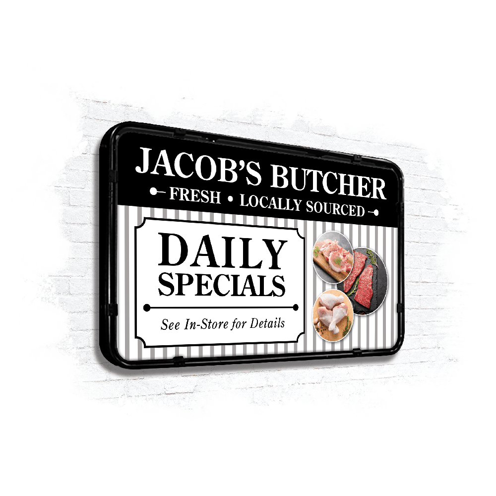 Jacobs Butcher wall panel