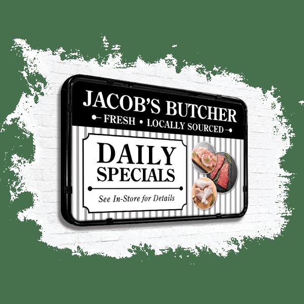 Jacobs Butcher wall panel