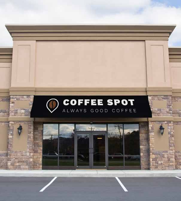 Coffee Spot Awning Sign