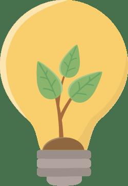 Illustration of energy efficient light bulb