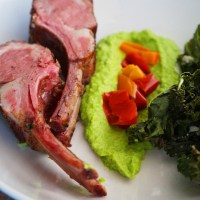 Sous-Vide Rack of Lamb with Minted Pea Puree