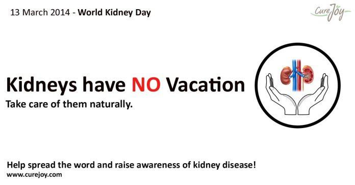 World Kidney Day - Kidneys have no vacation