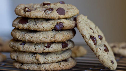 Almond Meal Cookies with Chocolate Chips and Coconut