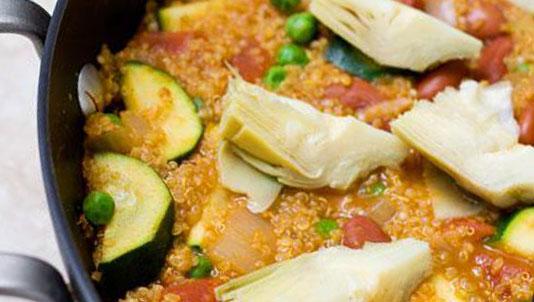 Quinoa Vegetable Paella