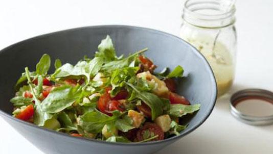 Two-tone Potato Salad with Walnut-Tarragon Vinaigrette