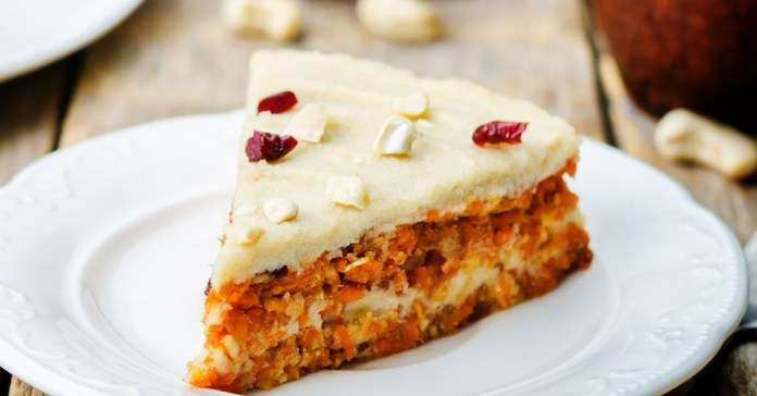 Paleo Carrot Cake With Vanilla Icing