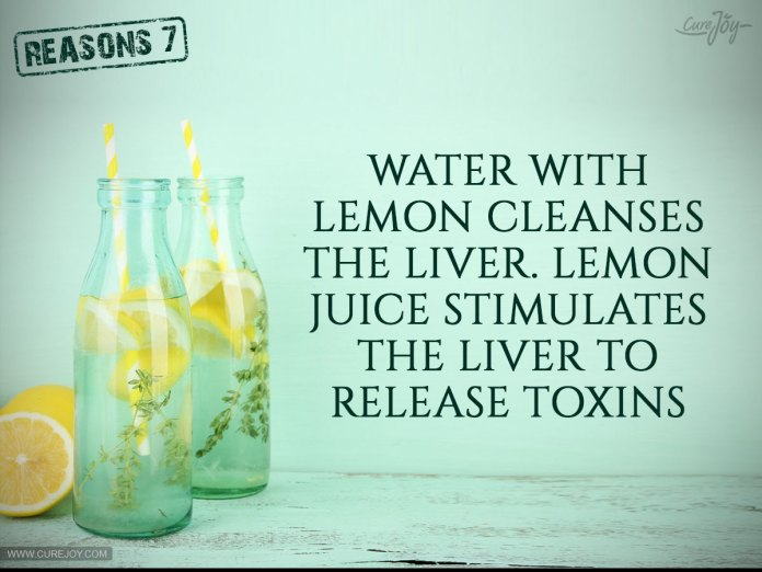 7-Water-with-lemon-cleanses-the-liver
