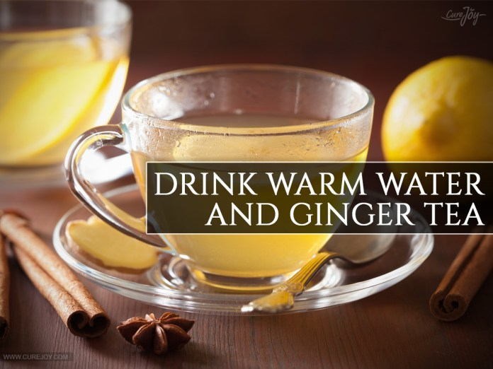 Drink-Warm-Water-and-Ginger-Tea