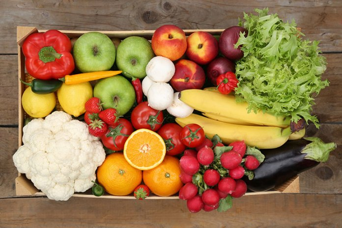 Eat 1 whole fruit and 2 cups of vegetables every day.