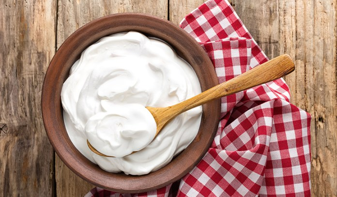 Yogurt is a good source of vitamin B12.