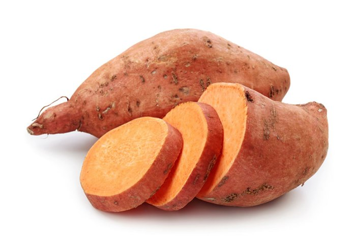 Sweet potatoes has beta-carotene and vitamin A helps retina to function better