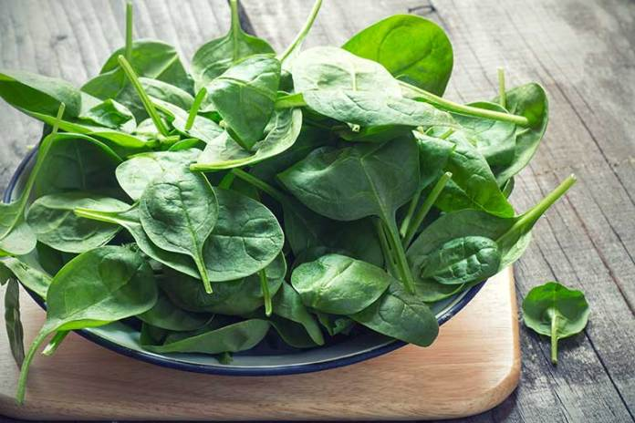 anti oxidants in spinach makes eye health better
