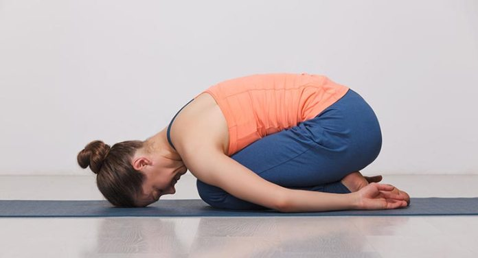 Childs Pose balasana Exercise During Periods
