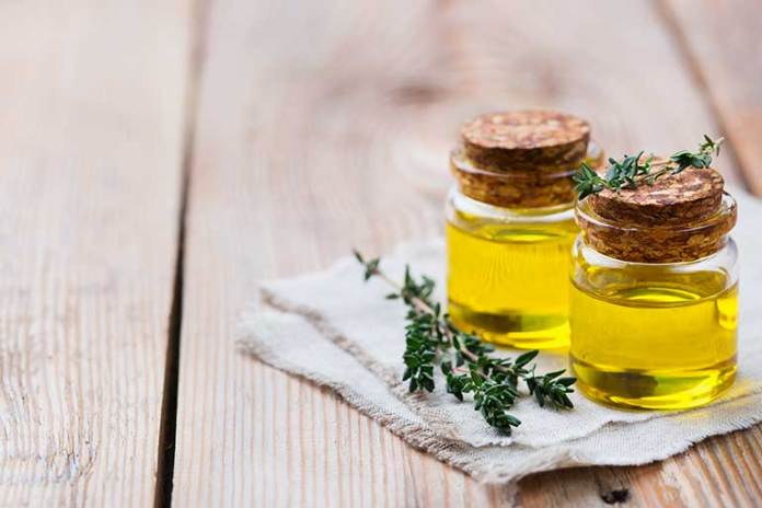 thyme-essential-oil: essential oils for bronchitis
