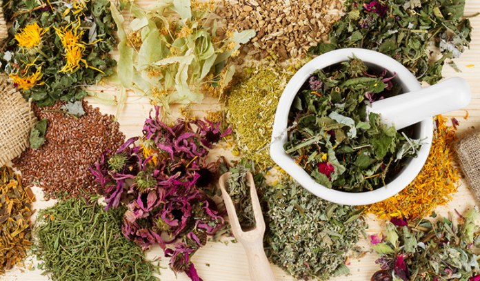 Herbs suppress the itching and reduce the redness of your skin Pityriasis Rosea