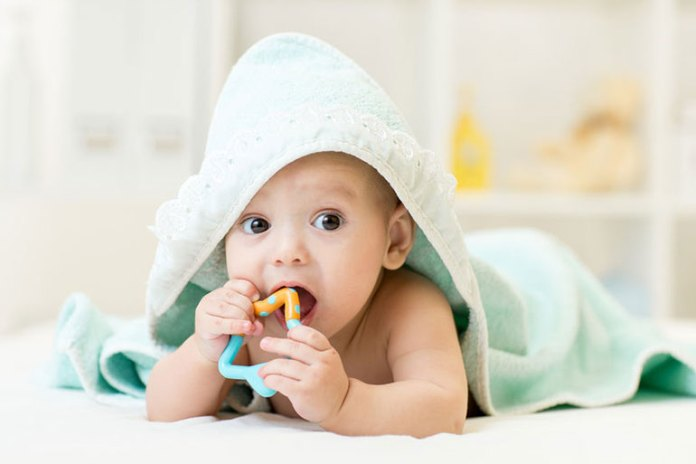 Some Babies Wake Up At Night Because They Start Teething