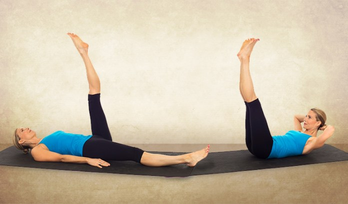 Single And Double Leg Raises_Yoga Asanas For Upper, Middle, and Lower Back Pain Relief