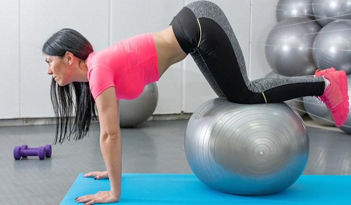 Exercises To Induce Menstruation Stability Ball Knee Tucks