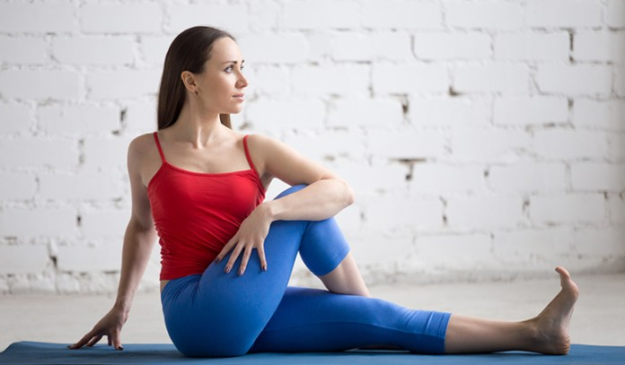 The Half Spinal Twist (Ardha Matsyendrasana)_Yoga Asanas For Upper, Middle, and Lower Back Pain Relief